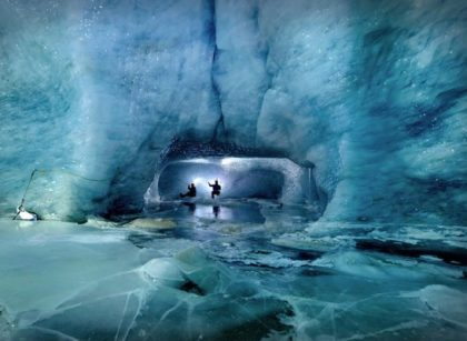 Exploration of ice caves